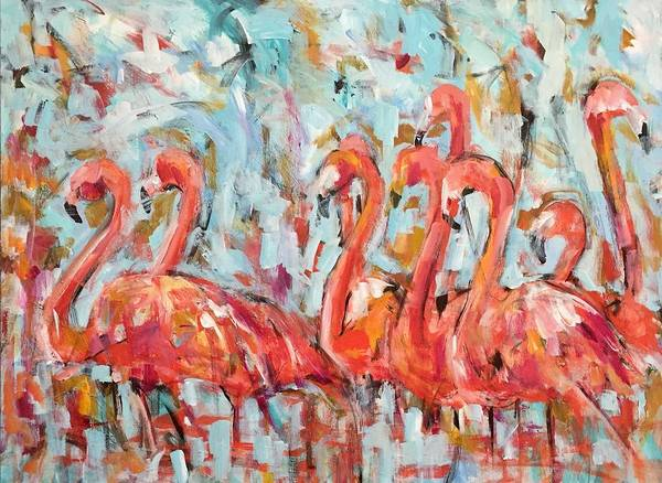 Wall Art - Painting - Flamingo Road by Molly Wright