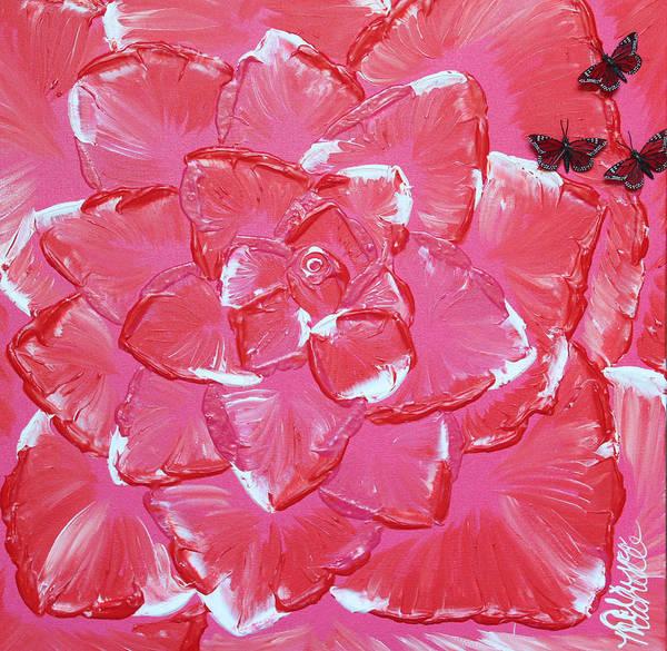 Painting - Flamingo Rose by Aliya Michelle