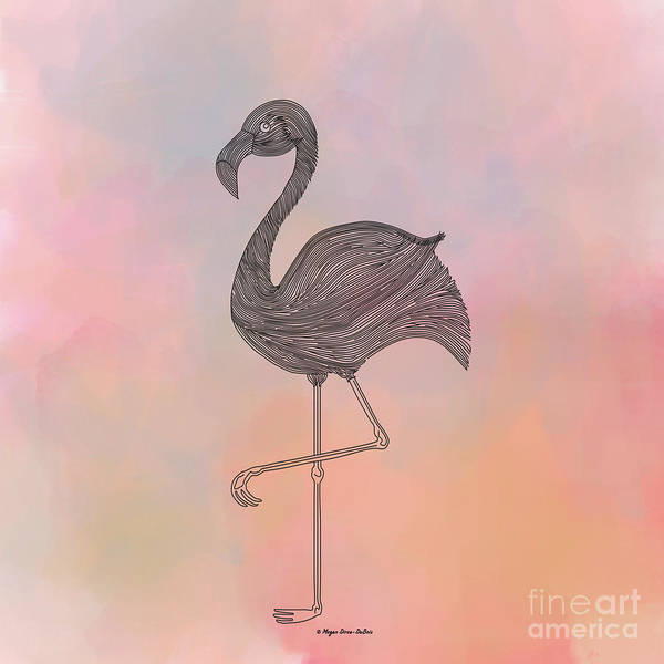 Digital Art - Flamingo1 by Megan Dirsa-DuBois