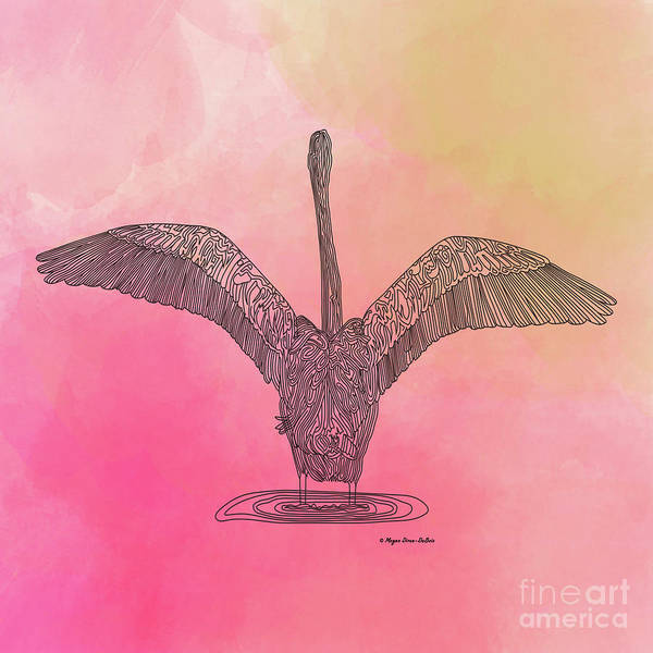 Digital Art - Flamingo2 by Megan Dirsa-DuBois