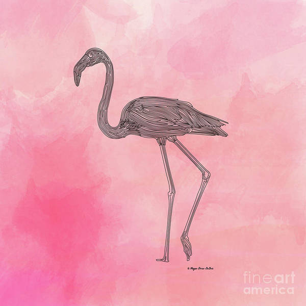 Digital Art - Flamingo3 by Megan Dirsa-DuBois