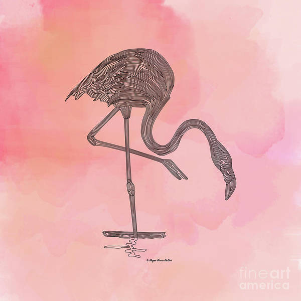 Digital Art - Flamingo4 by Megan Dirsa-DuBois