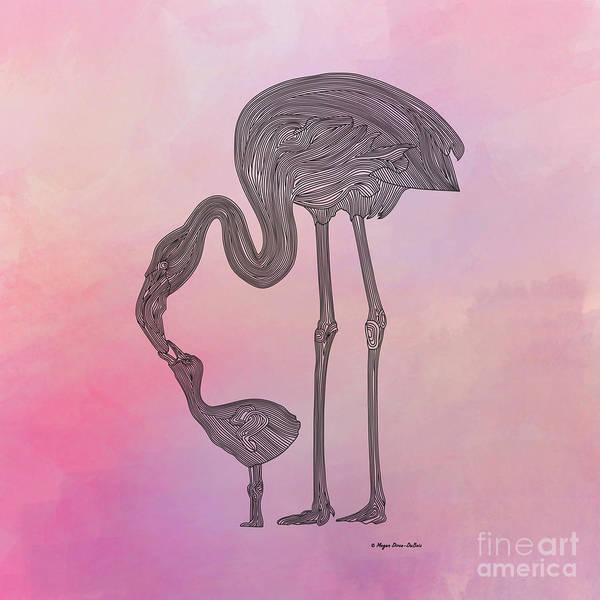 Digital Art - Flamingo6 by Megan Dirsa-DuBois