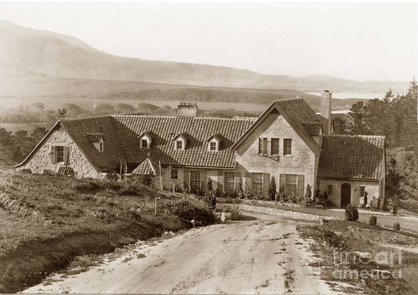 Photograph - Flanders Mansion Also Known As Outlands, Carmel 1926  by California Views Archives Mr Pat Hathaway Archives