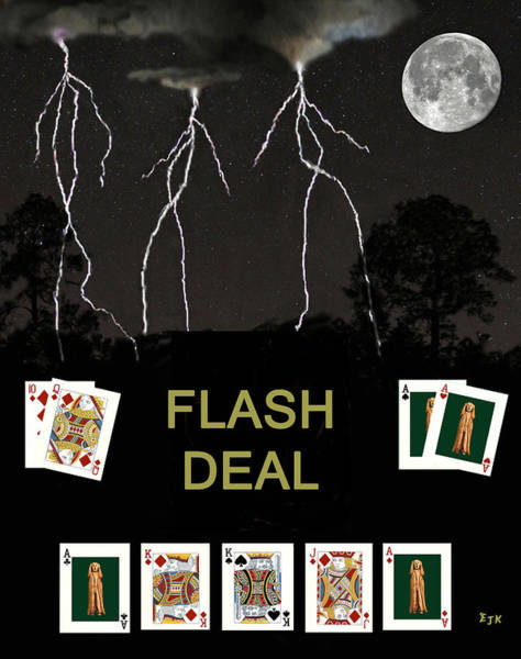 Macau Mixed Media - Flash Deal  Poker Cards by Eric Kempson