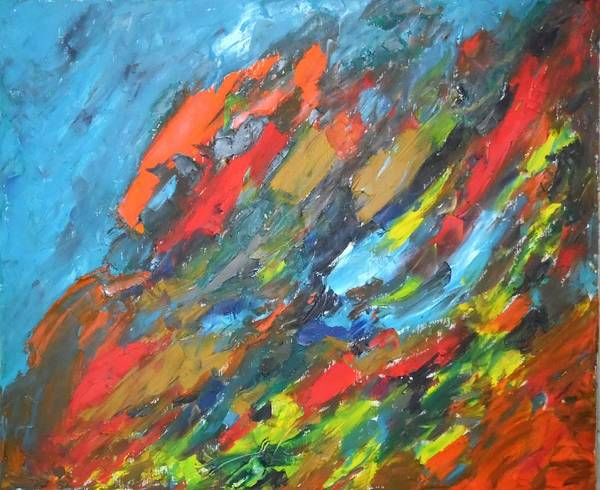 Flammable Wall Art - Painting - Flash Fire by Esther Newman-Cohen
