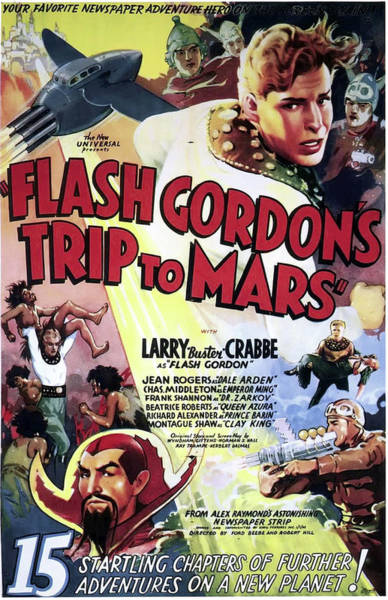 Wall Art - Mixed Media - Flash Gordon's Trip To Mars 1938 by Mountain Dreams