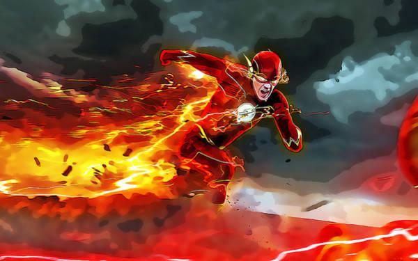 Super Hero Mixed Media - Flash by Love Art