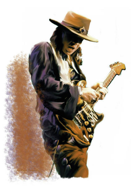 Painting - Flash Point Stevie Ray Vaughan by Iconic Images Art Gallery David Pucciarelli