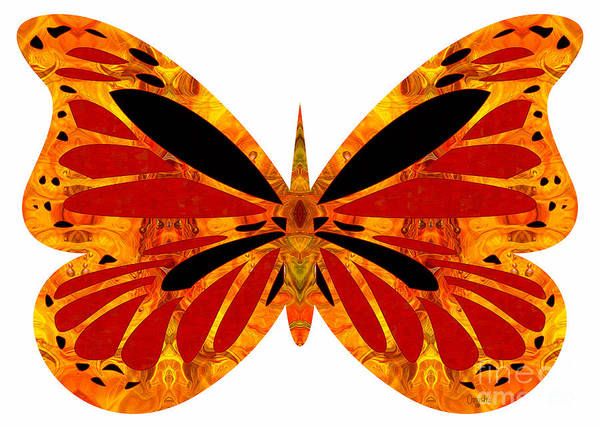 Digital Art - Flashes Of Brilliance And Abstract Butterflies By Omashte by Omaste Witkowski