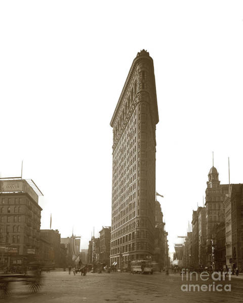 Photograph - Flat Iron Building New York City 1904 by California Views Archives Mr Pat Hathaway Archives