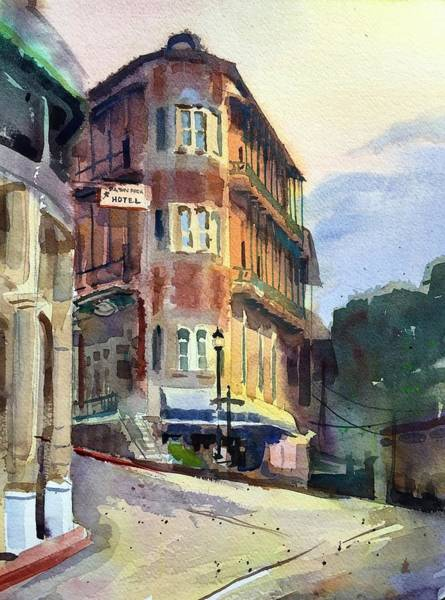 Eureka Painting - Flat Iron Eureka Springs by Spencer Meagher