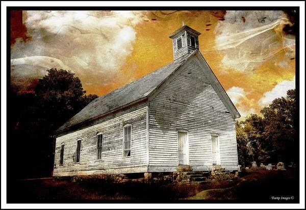 Digital Art - Flat Rock Church V1 by Wesley Nesbitt