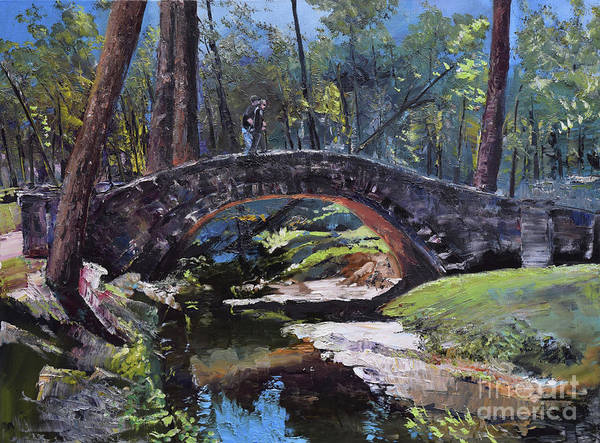 Painting - Flat Rock Park - Two Very Special People-columbus Ga by Jan Dappen