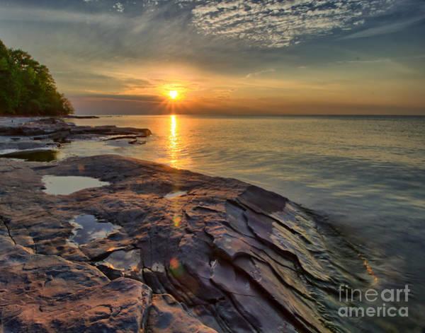 Photograph - Flat Rock Sunset by Rod Best