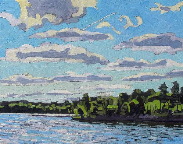 Stratocumulus Painting - Flat Sc by Phil Chadwick
