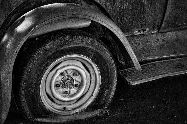 Clunker Wall Art - Photograph - Flat Tire by Stuart Litoff