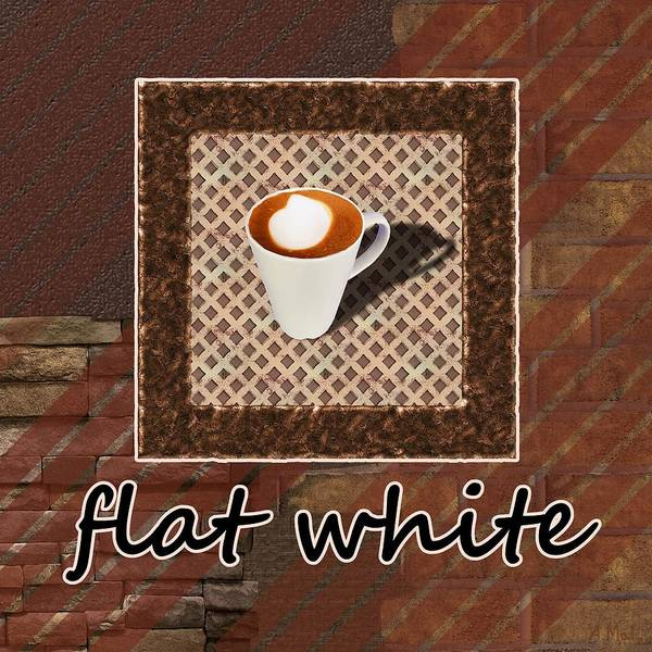 Photograph - Flat White - Coffee Art by Anastasiya Malakhova