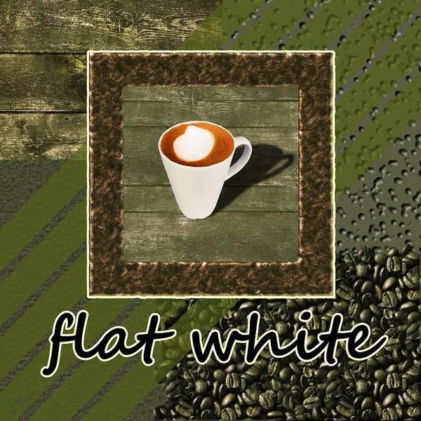 Photograph - Flat White - Coffee Art - Green by Anastasiya Malakhova