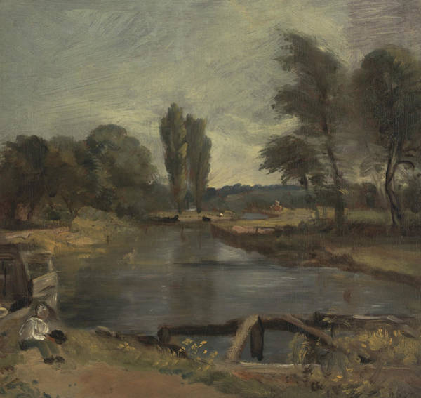 Painting - Flatford Lock by John Constable