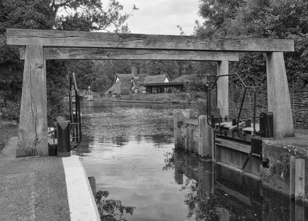 Photograph - Flatford Mill Lock by Stephen Barrie