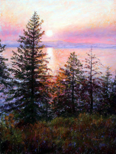 Painting - Flathead Lake by Mary Giacomini