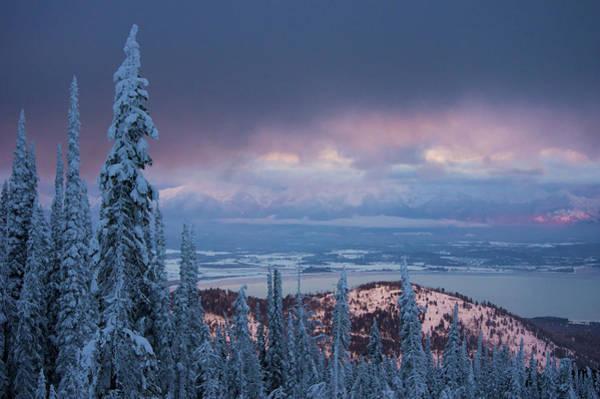 Photograph - Flathead Lake Winter by Jedediah Hohf