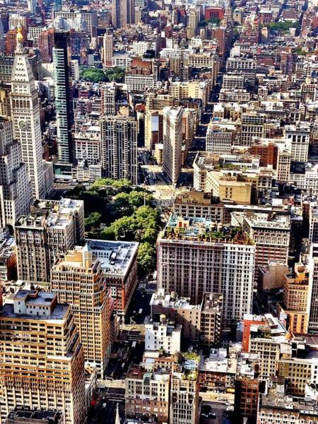 City Scenes Wall Art - Photograph - Flatiron Building From Above - New York City by Vivienne Gucwa