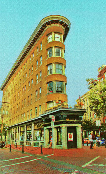 Photograph - Flatiron Building In Gastown Vancouver Canada by Ola Allen
