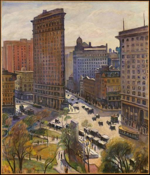 Painting - Flatiron Building New York By Samuel Halpert by Samuel Halpert