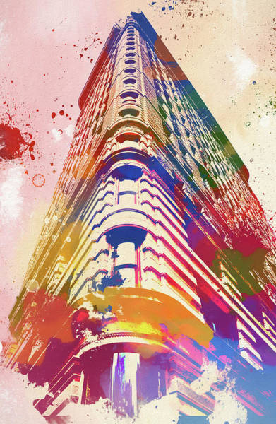 Painting - Flatiron Building Watercolor by Dan Sproul