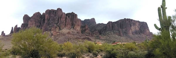 Wall Art - Photograph - Flatiron Of The Superstition Mountains by David Dunham