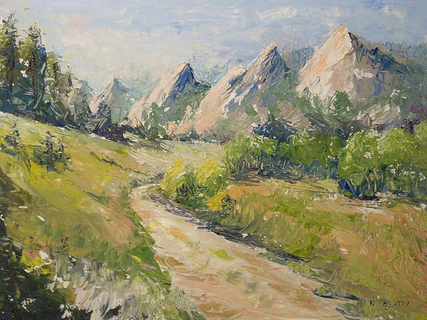Flatirons In The Rockies Art Print