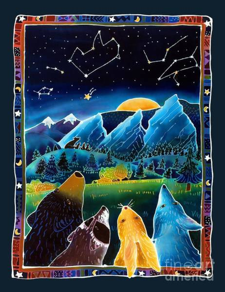 Colorado Wildlife Wall Art - Painting - Flatirons Stargazing by Harriet Peck Taylor