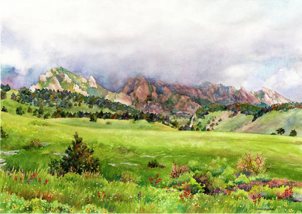 Painting - Flatirons Vista by Anne Gifford