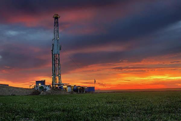 Drilling Photograph - Flatland Drilling by Thomas Zimmerman