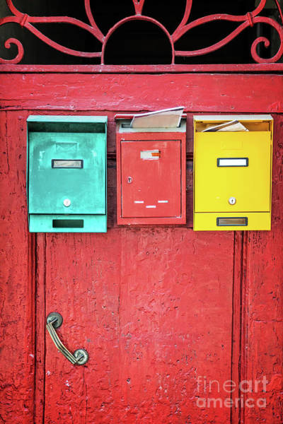Mailbox Photograph - Flatsharing by Delphimages Photo Creations