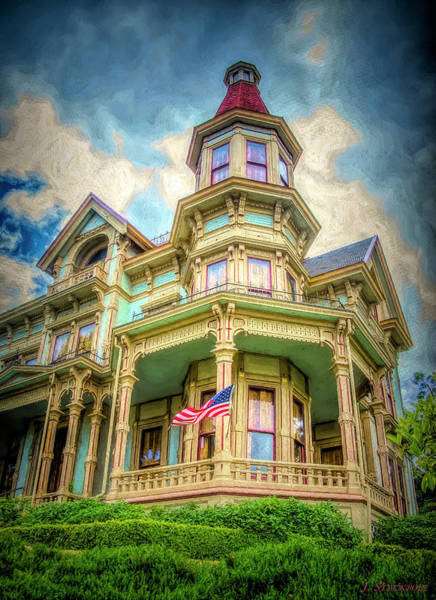 Queen Anne Style Photograph - Flavel House Museum by Jennifer Stackpole