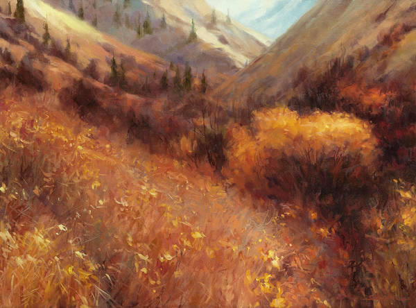 Field Of Flowers Wall Art - Painting - Flecks Of Gold by Steve Henderson