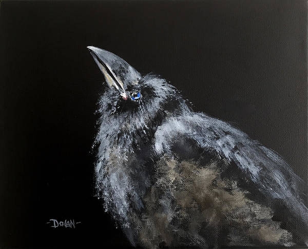 Painting - Fledgling Raven by Pat Dolan