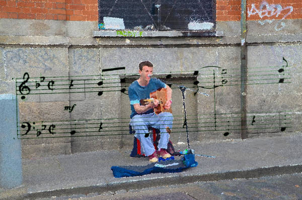 Busker Wall Art - Photograph - Fleet Street Busker by Bill Cannon