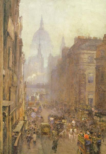 Traffic Painting - Fleet Street by Rose Maynard Barton