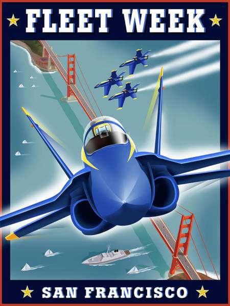 Aerobatics Wall Art - Digital Art - Fleet Week San Francisco by Steve Forney