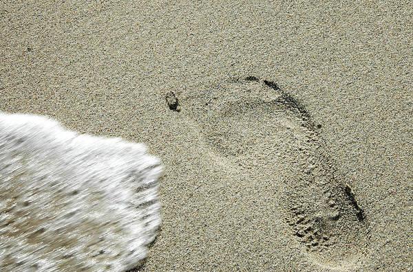 Fleeting Footprint - South Beach Miami Art Print