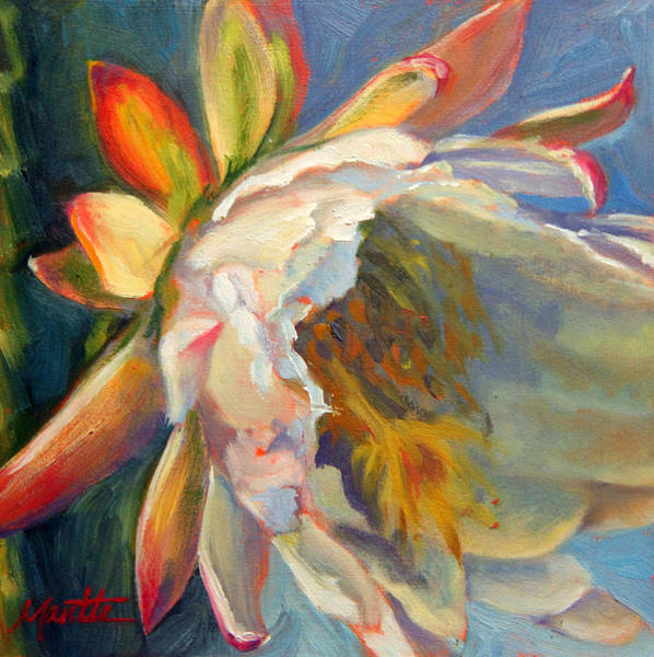 Cactus Flower Wall Art - Painting - Fleeting Jewel by Athena Mantle