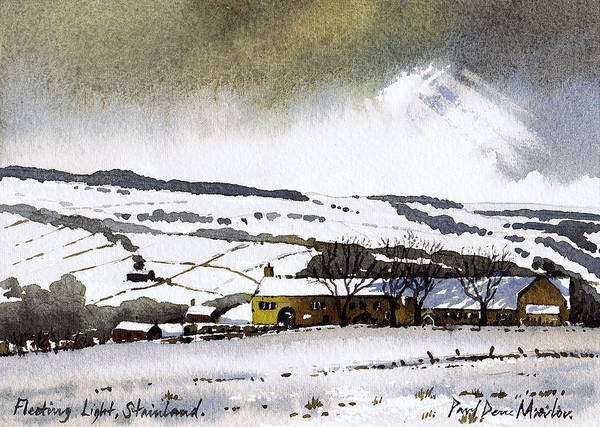 Wall Art - Painting - Fleeting Light Stainland by Paul Dene Marlor