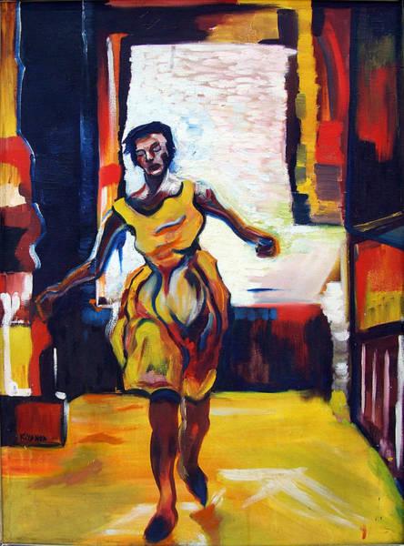 Painting - Fleeting Woman by Katt Yanda
