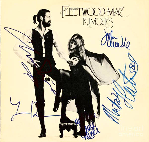 Mac Mixed Media - Fleetwood Mac Autographed Album Cover by Pd