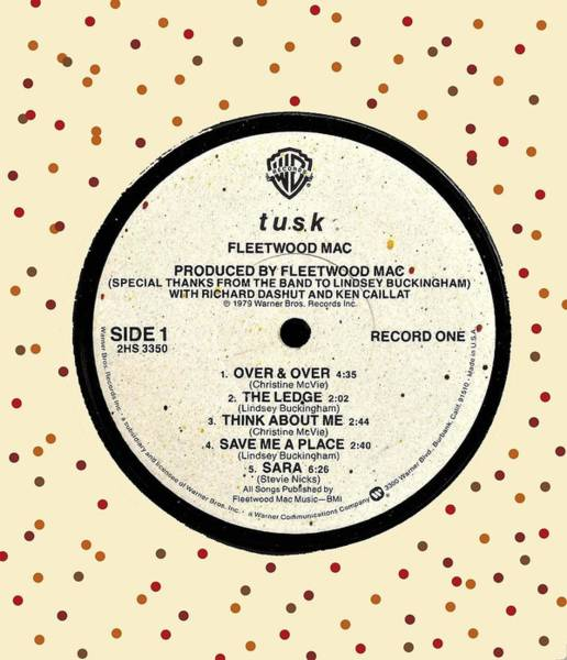 Wall Art - Digital Art - Fleetwood Mac Tusk Lp Label by Doug Siegel
