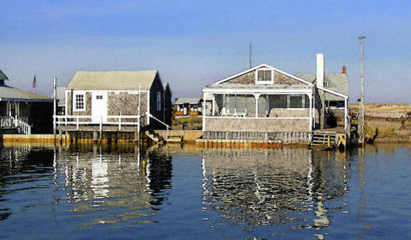 Wall Art - Photograph - Fletchers Camp And The Little House Sandy Neck by Charles Harden